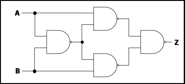 NAND回路を用いたXOR回路への変換