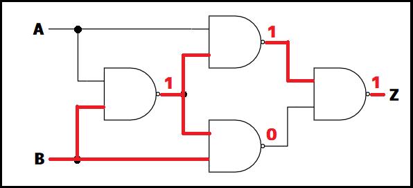 XOR回路の値挿入例1