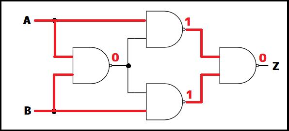 XOR回路の値挿入例2
