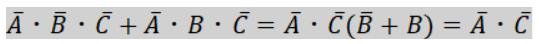 3変数カルノー図簡単化1
