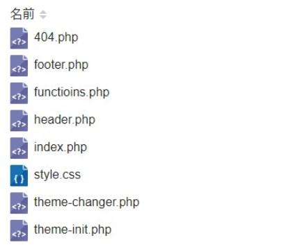 404.phpを作成